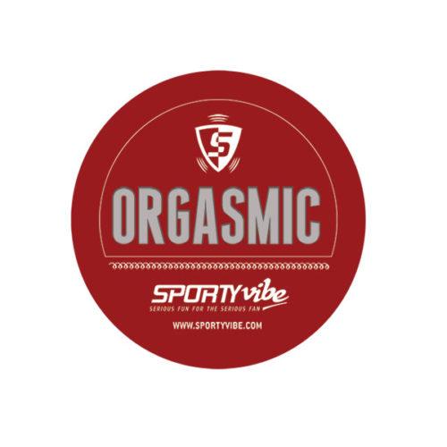 Sporty Vibe Crimson and Cream Sticker