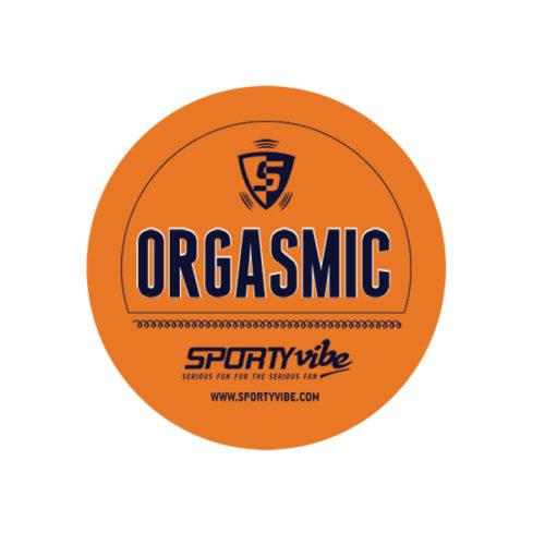 SportyVibe™  Orange and Blue Sticker